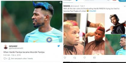 Twitterati reacts to the new hairdo of Hardik Pandya
