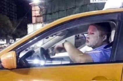 Chinese Cab Driver Suspended for wearing Skin Care Mask On Duty