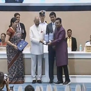 AR Rahman National Award receiving video