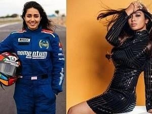 Nivetha Pethuraj achieves a new mass feat - stuns in car racing; video goes VIRAL!