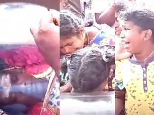 "RIP: ""Open your eyes Daddy"" - Vadivel Balaji's young daughter cries endlessly! Heartbreaking video!"