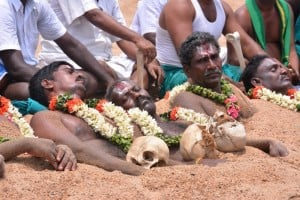 South Indian River Link Farmers protest to form Cauvery Management